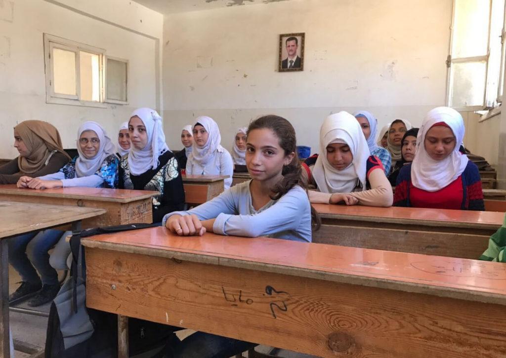 РГМ раздает гуманитарную помощь в одной из школ Латакии, Сирия